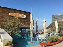 Cafe Along Tayelet on Tel Aviv Beach