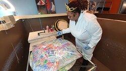 Spin Art Atlanta paint Studio