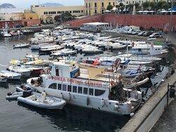 Ponza diving center boat for diving