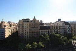 Panorama of Eixample from the roof of La Pedreira.