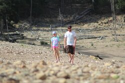Dad and daughter walks