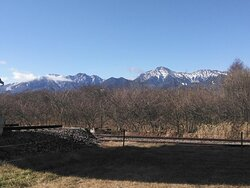 Nobeyama Radio Observatory,  45-m Radio Telescope (diameter 45m), the mountain view from observatory area