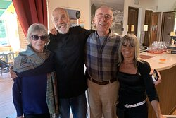 Barbara, Massimo, Carlo, & Giovanna...old friends.