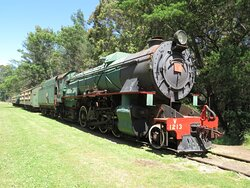 Have a look at the old locomotives before you set off.