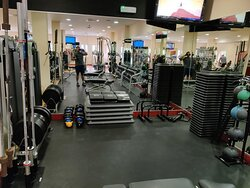 Free weight section in the gym