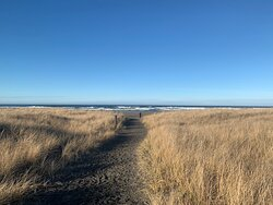 The trail to the beach is an easy walk.