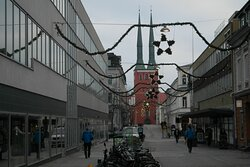 Växjö domkyrka sedd från Sandgärdsgatan