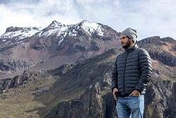 Vista del Iztaccihuatl desde la joya a los casi 4,000 msnm