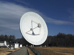 The 45-m Radio Telescope collects extremely weak signals from celestial objects - according to explanations 😀🌌