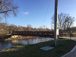 A beautiful trail bridge across the Fox River