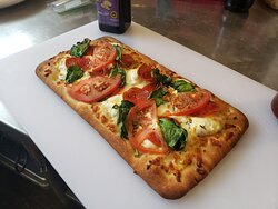 Chef special of December 2020; homemade personalized pizzas, $7.99, with all toppings including.