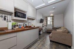 Beckside open plan living/kitchen