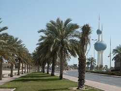 the Kuwait Towers at the back