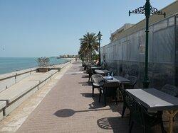 a café at the Corniche