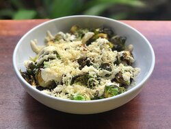 Crispy Brussel Sprouts with House Lemon Caesar