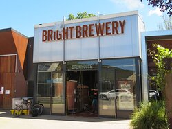 Bright Brewery on Gavan Street. You can see into the brew house through the windows/door. The restaurant is next door.