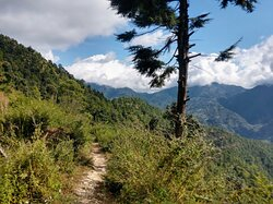 View of the area from on of the many trekking paths