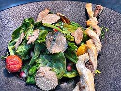 getrüffelter Babyspinat- Salat