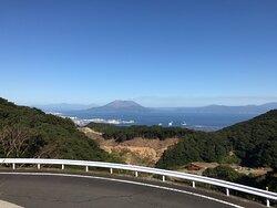 展望台から見た桜島です。