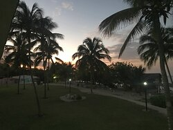 View from Oceanview room at sunset - - February 2020