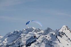 Baptême en parapente face au Mont Blanc