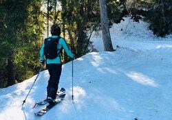 La montée du Chéry en ski de randonnée