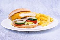 Halloumi Burger & Chips