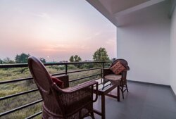 Spacious balcony to enjoy beautiful sunsets