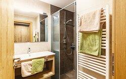 Badezimmer Appartement Alm