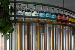 Jim & Tonic gins , distilled on site