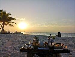 Sundowner an der Beachbar