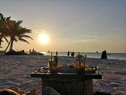 Sundowner at the beach