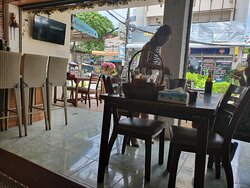 Comfortable seating is available, inside and out, at Yokotai Restaurant in Khon Kaen City.