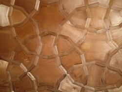 Some woodwork on the ceiling of Moonshine.