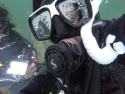 Shot in the deep sea. its me with the trainer who trains in the bottom  of the sea without touching bed.