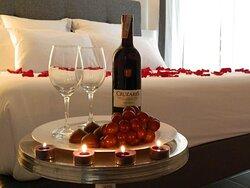 Una noche romántica inolvidable .