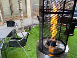 Estufas en la terraza para poder seguir disfrutando