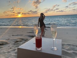 First night at Iru Bar, watching the sunset.