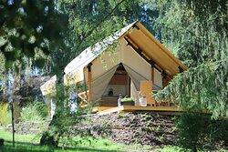 Bungalov Family pro 6 osob kuchyňka, koupelna s WC 3 ložnice, klimatizace,  podlahové topení, terasa