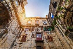 Rincones dentro del palacio de Split