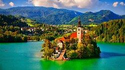 El lago de Bled... nos ha dejado sin palabras de tanta belleza