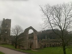 Fountains Abbey owned by the National Trust
