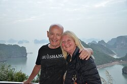 My wife and I during our stop at Titop Island