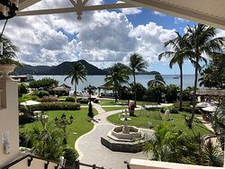 View from main stairs facing the Carribean Sea.