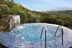 Royal Villa's outdoor heated jacuzzi