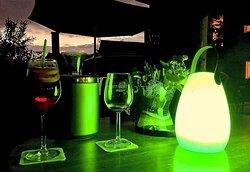 Angenehme grüne Tischbeleuchtung