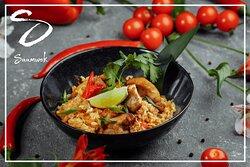 Tous les mercredis, Saamwok vous propose:  Le riz sauté au poulet (CH).
