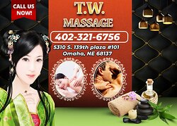 T.W Massage, is an asian massage spa designed to help you reduce stress, relieve build up chronic pain, and increase the overall quality of your life! We specialize in multiple affordable, customized treatments to meet the needs of a wide variety of clients in a peaceful setting! We are proud to be providing Authentic Asian Massage therapy services in our beloved community of Omaha, NE!