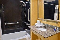Handicap One Bed King Suite Bathroom