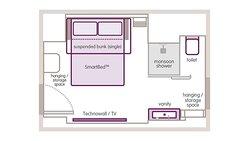 Triple floor plan